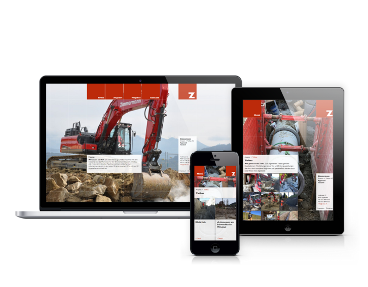 Responsive Website Zimmermann