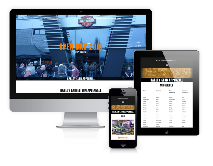 Website Harley Club Appenzell