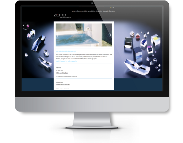 Website Zünd Precision Optics ist online