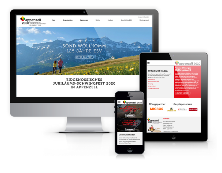 Showcase Website Appenzell2020