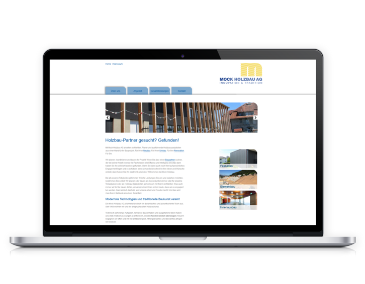 Website Mock Holzbau AG